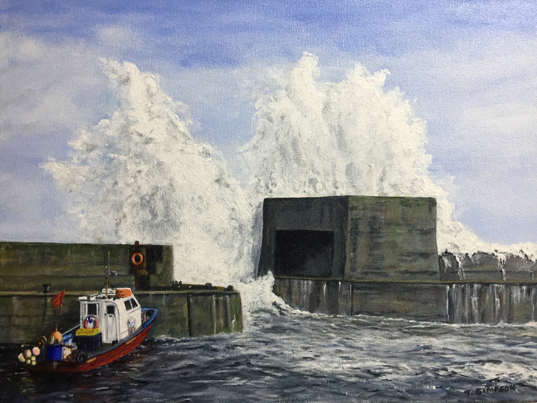 Stormy Sea Craster