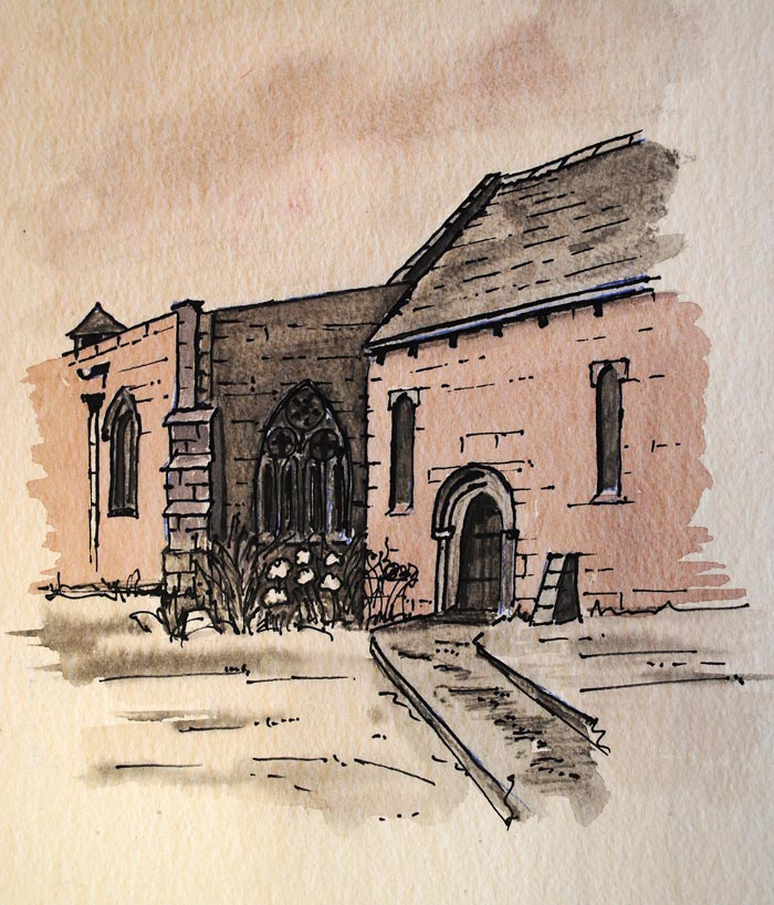 Church in pen and ink