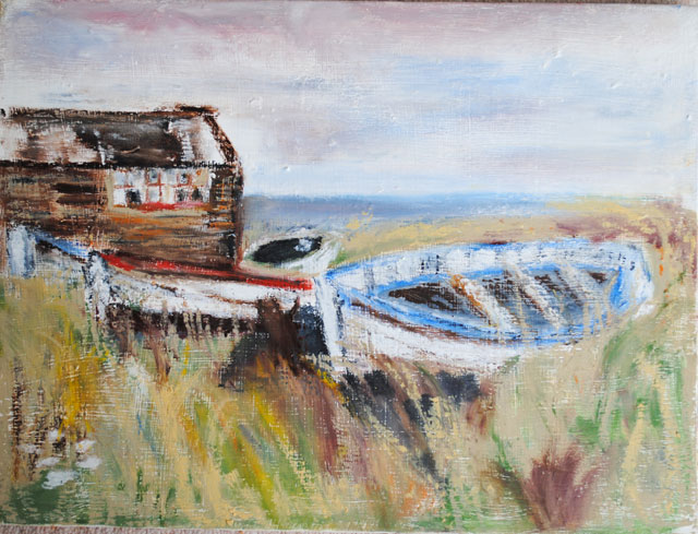 The old hut at Beadnell