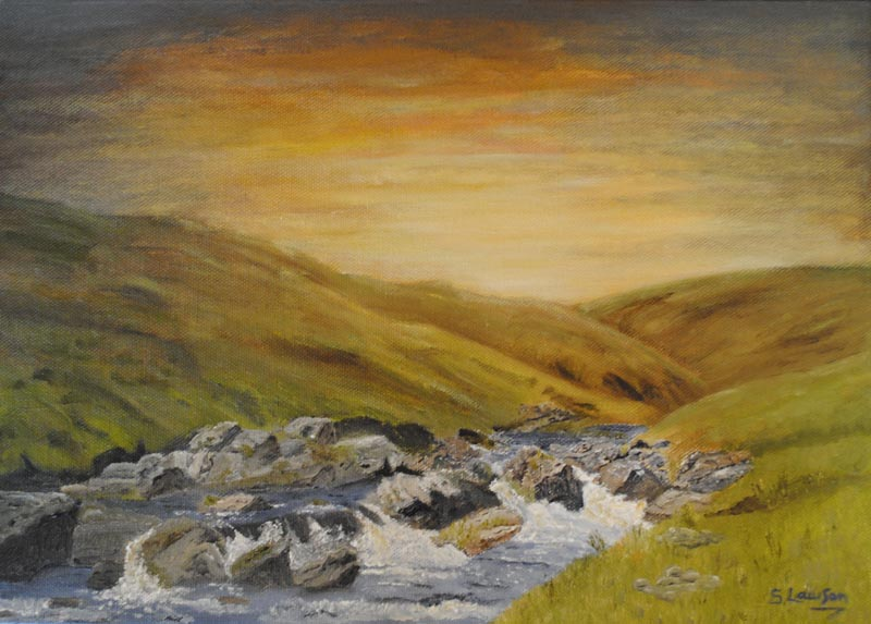 Moorland stream by Susie